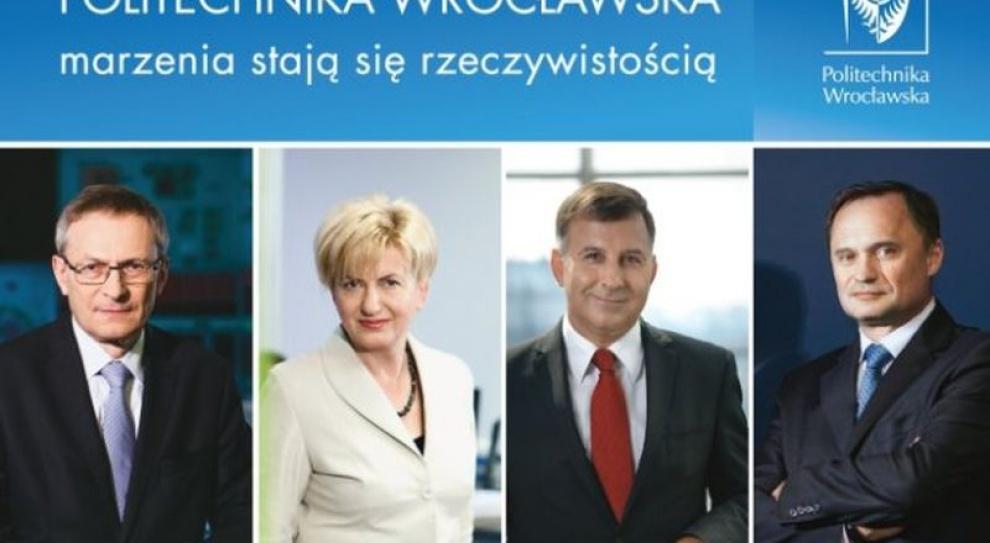 Znani prezesi reklamują Politechnikę Wrocławską