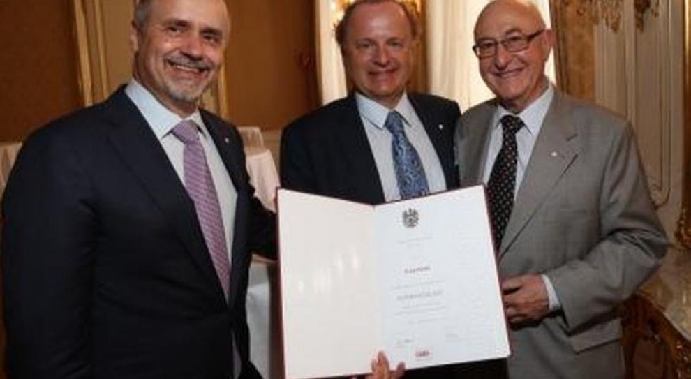 Franz Fuchs z honorowym tytułem radcy handlowego