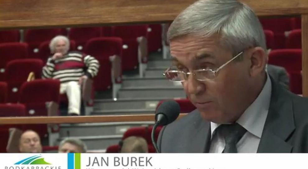 Jan Burek odwołany z funkcji wicemarszałka