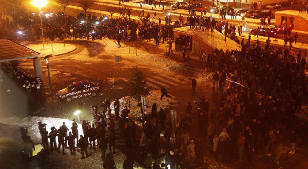 Strajk w JSW. Kolejna demonstracja przed siedzibą JSW