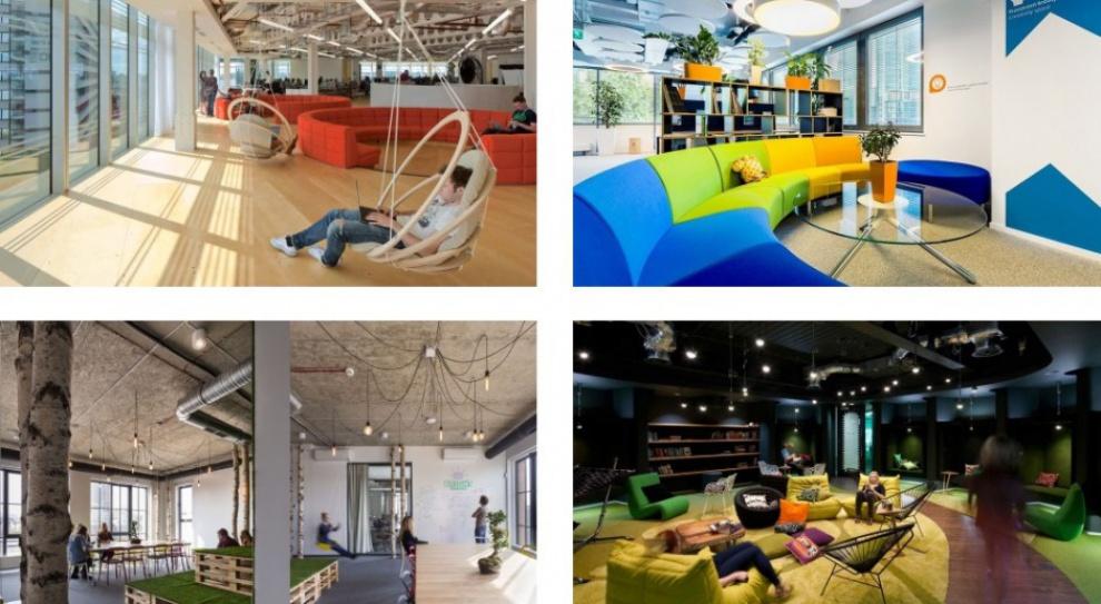 Jak wyglądają najbardziej designerskie strefy chillout w biurach?