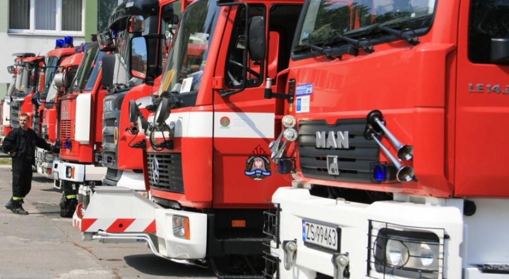 Protest strażaków w Warszawie