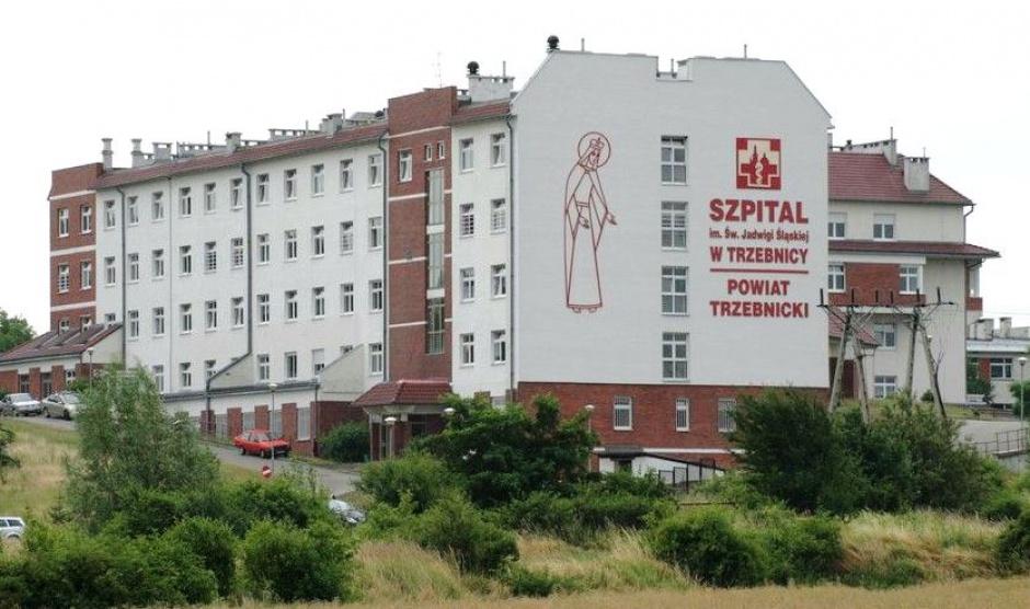 Pracownicy szpitala w Trzebnicy protestują