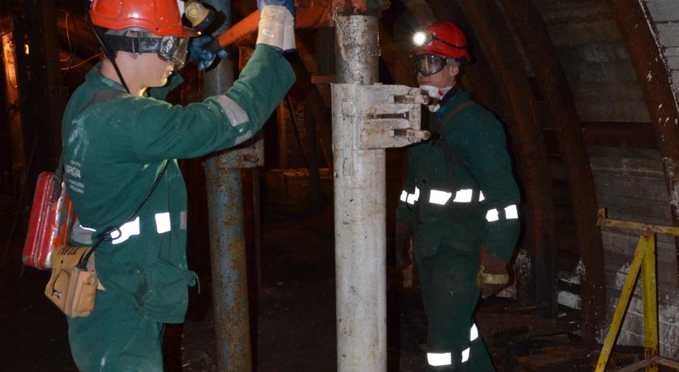 Tauron Wydobycie: Młodzi górnicy uczyli się zawodu w kopalni Janina