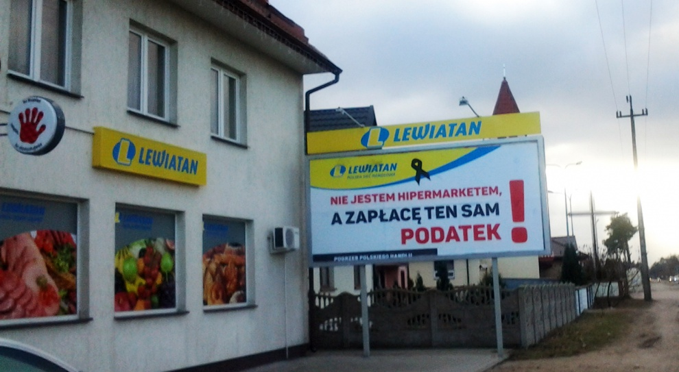 Lewiatan protestuje przeciw podatkowi od marketów