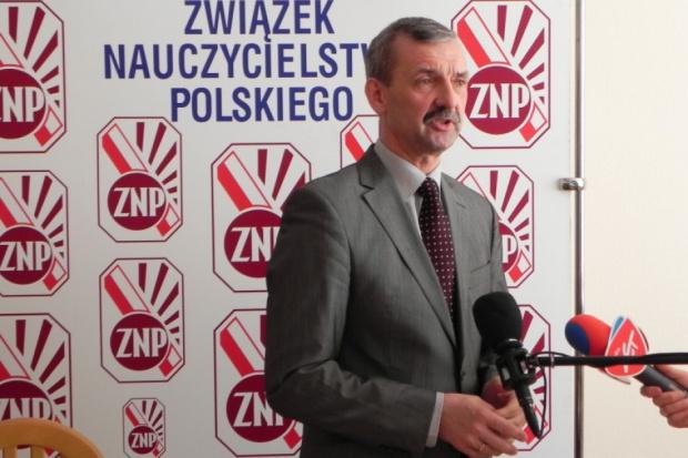 Sławomir Broniarz, przewodniczący Związku Nauczycielstwa Polskiego. (fot. ZNP)