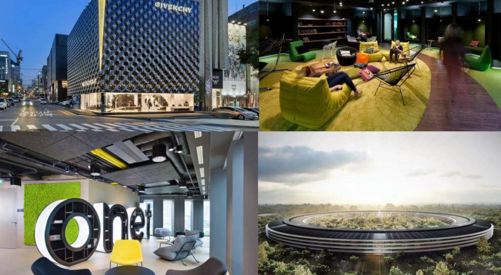 Apple, Ikea, Google, Givenchy. Oni stawiają na oryginalny design biurowych wnętrz