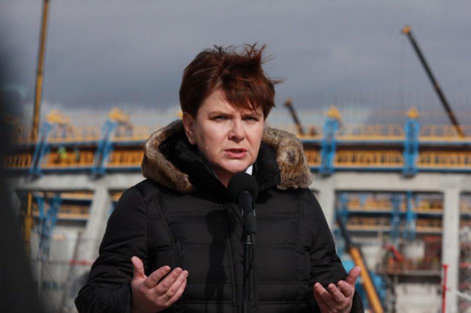 Beata Szydło na budowie bloku Elektrowni Jaworzno. Będzie praca dla kilku tysięcy osób