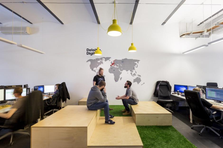 Nowe biuro Deloitte Digital przyjazne dla pracowników