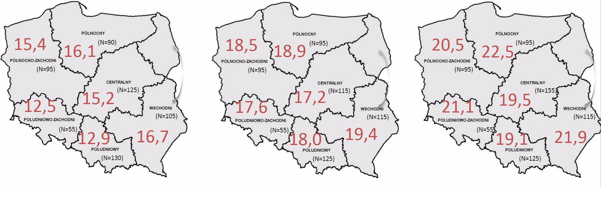 """Zróżnicowanie regionalne kompetencji ekonomicznych uczniów. (Źródło: """"Stocznia"""