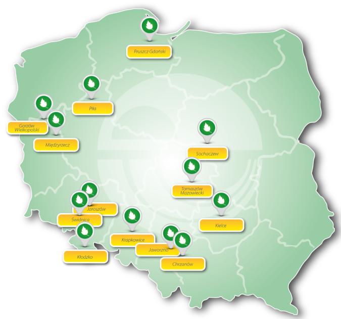 Program realizowany jest indywidualnie w13 lokalizacjach, od Pruszcza Gdańskiego do Jaworzna i Kłodzka, od Gorzowa Wielkopolskiego do Sochaczewa.