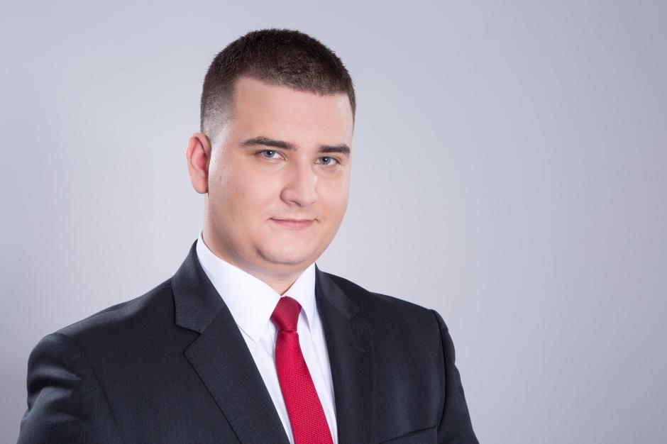 Bartłomiej Misiewicz, szef gabinetu MON. (fot. bartlomiejmisiewicz.pl)