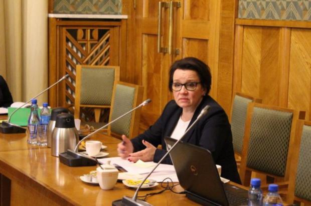 Anna Zalewska, minister edukacji narodowej chce przedstawić szczegóły reformy szkolnictwa zawodowego pod koniec czerwca. (fot. men.gov.pl)