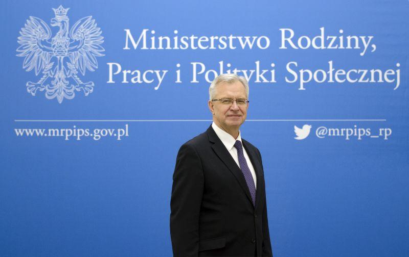 Krzysztof Michałkiewicz, sekretarz stanu w Ministerstwie Rodziny, Pracy i Polityki Społecznej. (fot. MRPiPS)