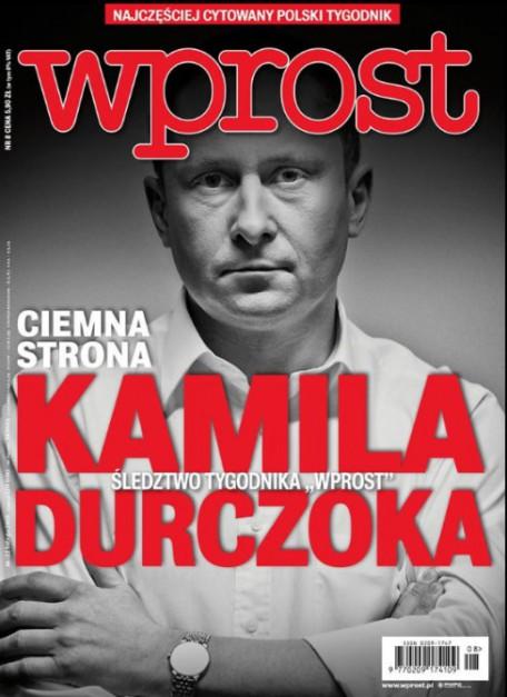 Kamil Durczok na okładce tygodnika
