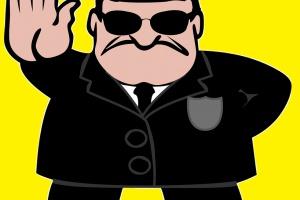 Ochroniarz powinien łapać złodzieja, ale czy mu się to opłaca?