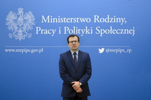 Wiceminister rodziny i pracy Marcin Zieleniecki (Fot. MRPiPS)