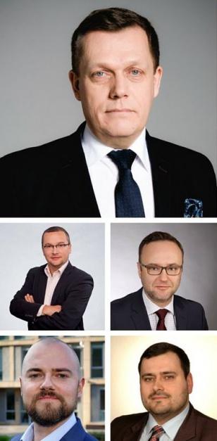 Pełny, pięciosobowy skład zarządu SAZ Polska. (fot. Twitter)