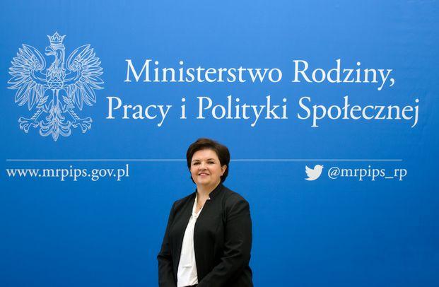 Elżbieta Bojanowska, podsekretarz stanu w MRPiPS. (fot. MRPiPS).