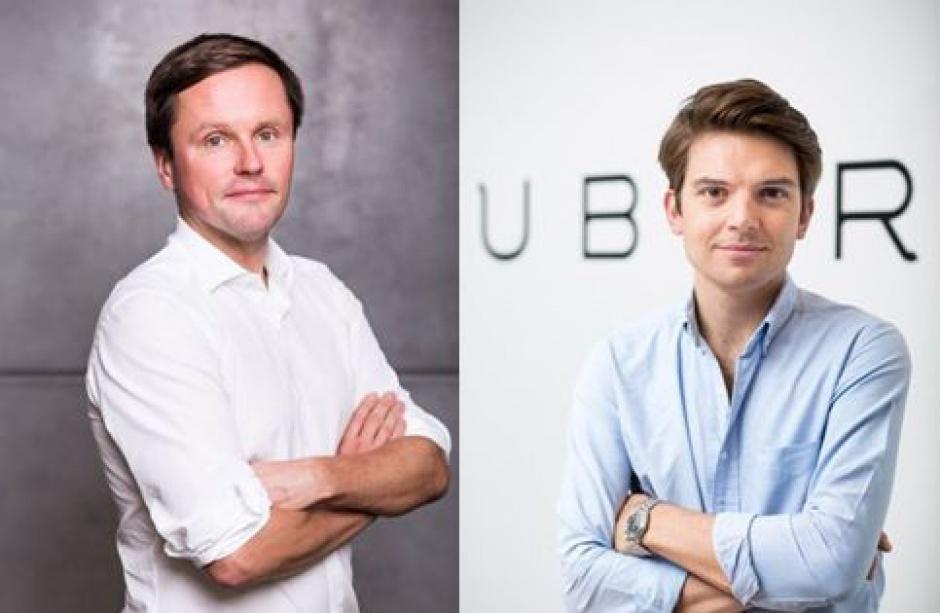 Łukasz Wejchert (po lewej), były prezes Onetu i wicperezes TVN oraz Pierre-Dimitri Gore-Coty z firmy Uber wezmą udział w European Start-up Days. (fot. mat.pras.)