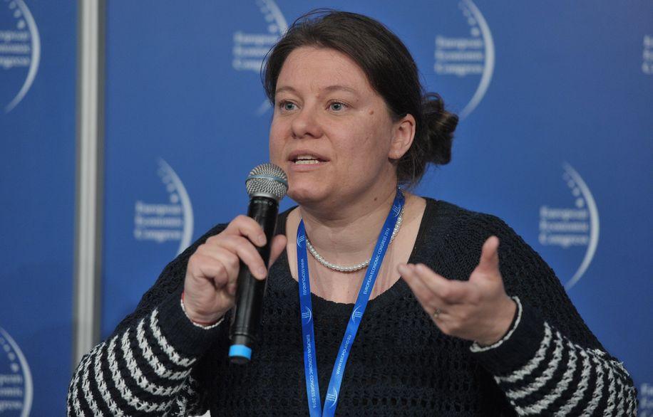 Agata Stafiej-Bartosik, dyrektor Ashoka Polska Innowatorzy dla Dobra Publicznego przekonuje, że przedsiębiorczość społeczna jest źródłem innowacyjności. (fot. PTWP)
