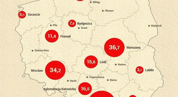 Centra usług BPO/SSC w Polsce. Gdzie najwięcej pracy?