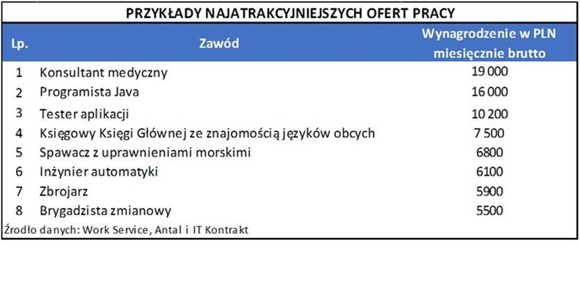 Oferty pracy i zarobki w Polsce
