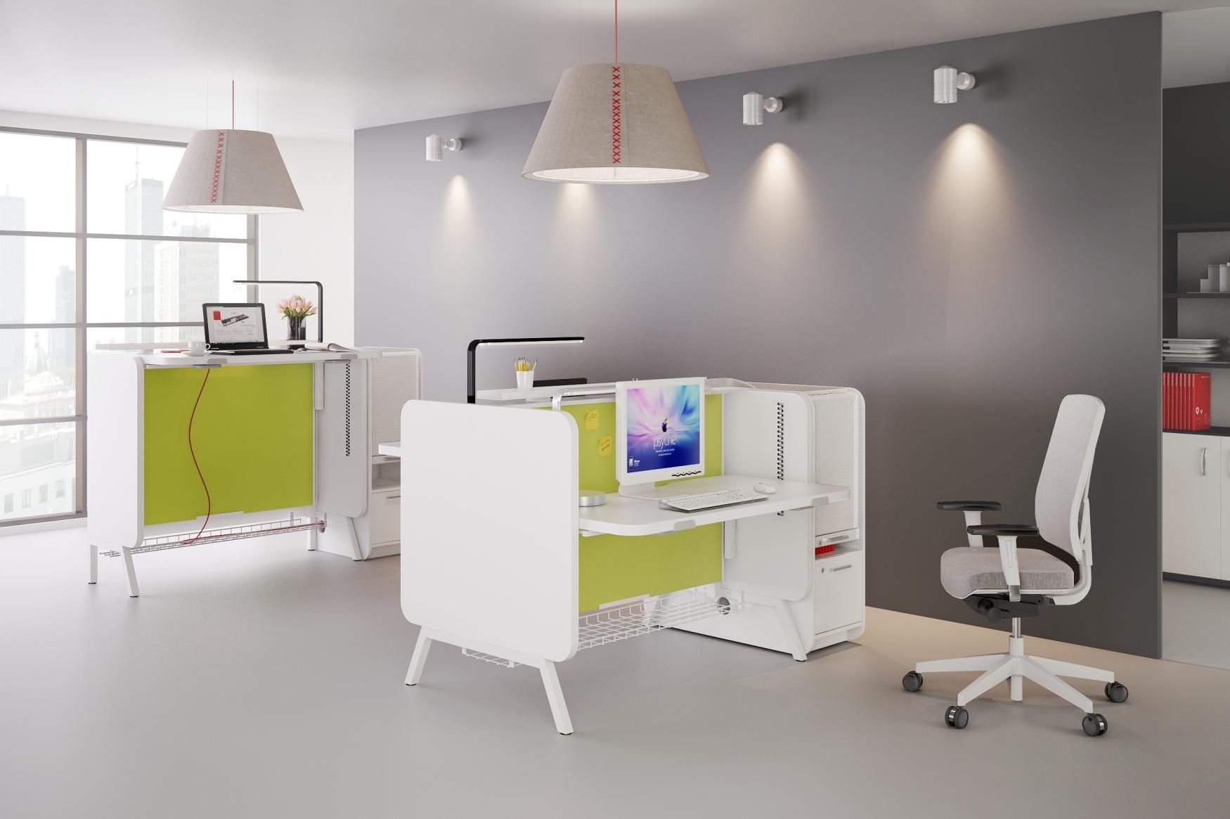 System stand up to biurka z możliwością zmiany wysokości blatu, które łatwo można dopasować do potrzeb użytkowników o różnym wzroście. (Fot. Mikomax)