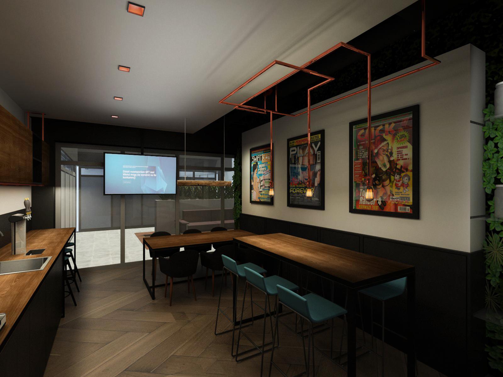 W warszawskim biurze GFT Polska jest kantyna, która przypomina sieciowe kawiarnie. (Fot. GFT)