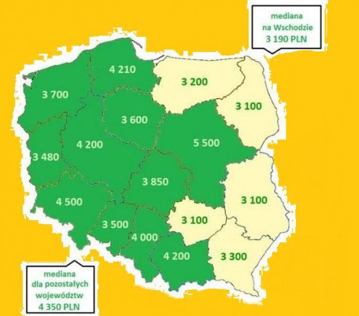 Praca i zarobki: Polska Wschodnia wciąż w ogonie. Czy w ogóle ma szanse?