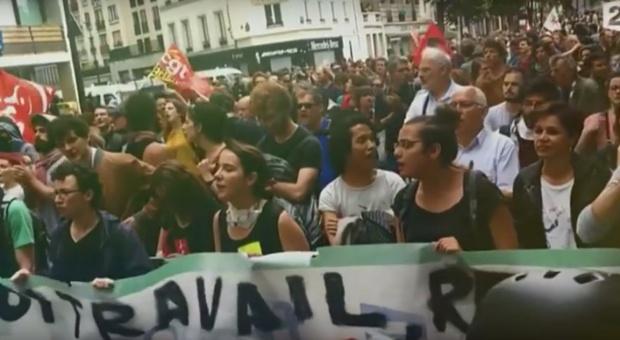 Paryż: czternasta manifestacja przeciw reformie prawa pracy