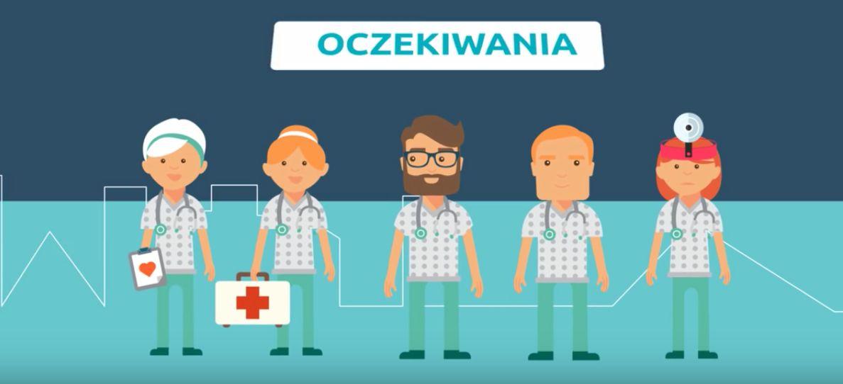 Kadr z filmu przygotowanego przez Porozumienie Rezydentów Ogólnopolskiego Związku Zawodowego Lekarzy. (fot. youtube.pl)