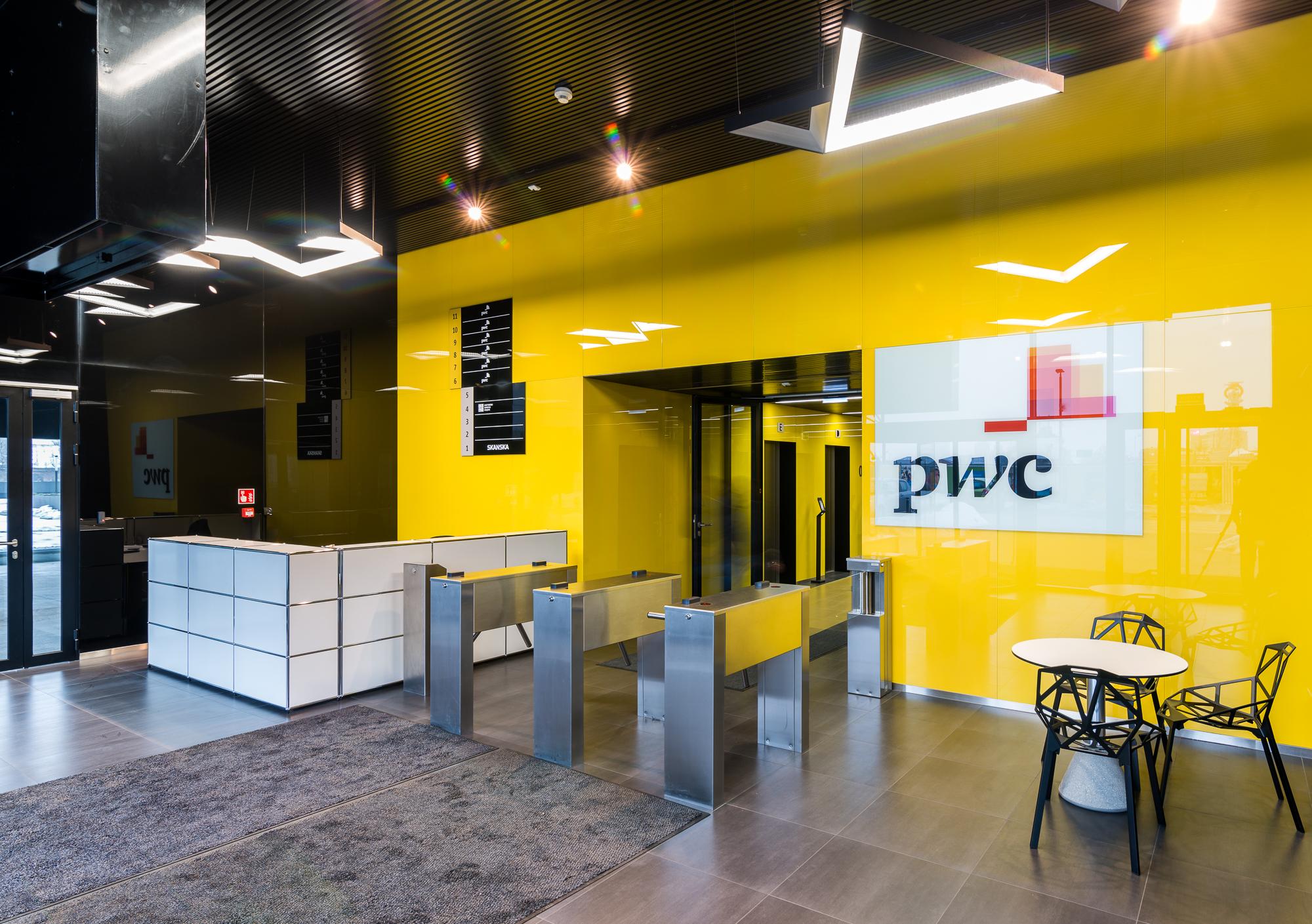 Lobby firmy PwC w Silesia Business Park. (fot. PwC)