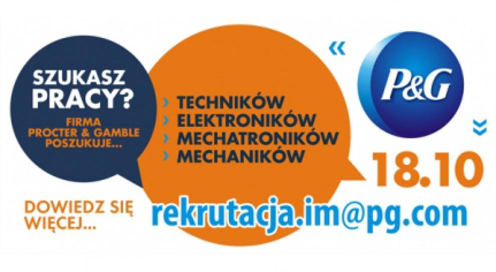 Procter&Gamble szuka techników w Łodzi. Rekrutacja w magistracie