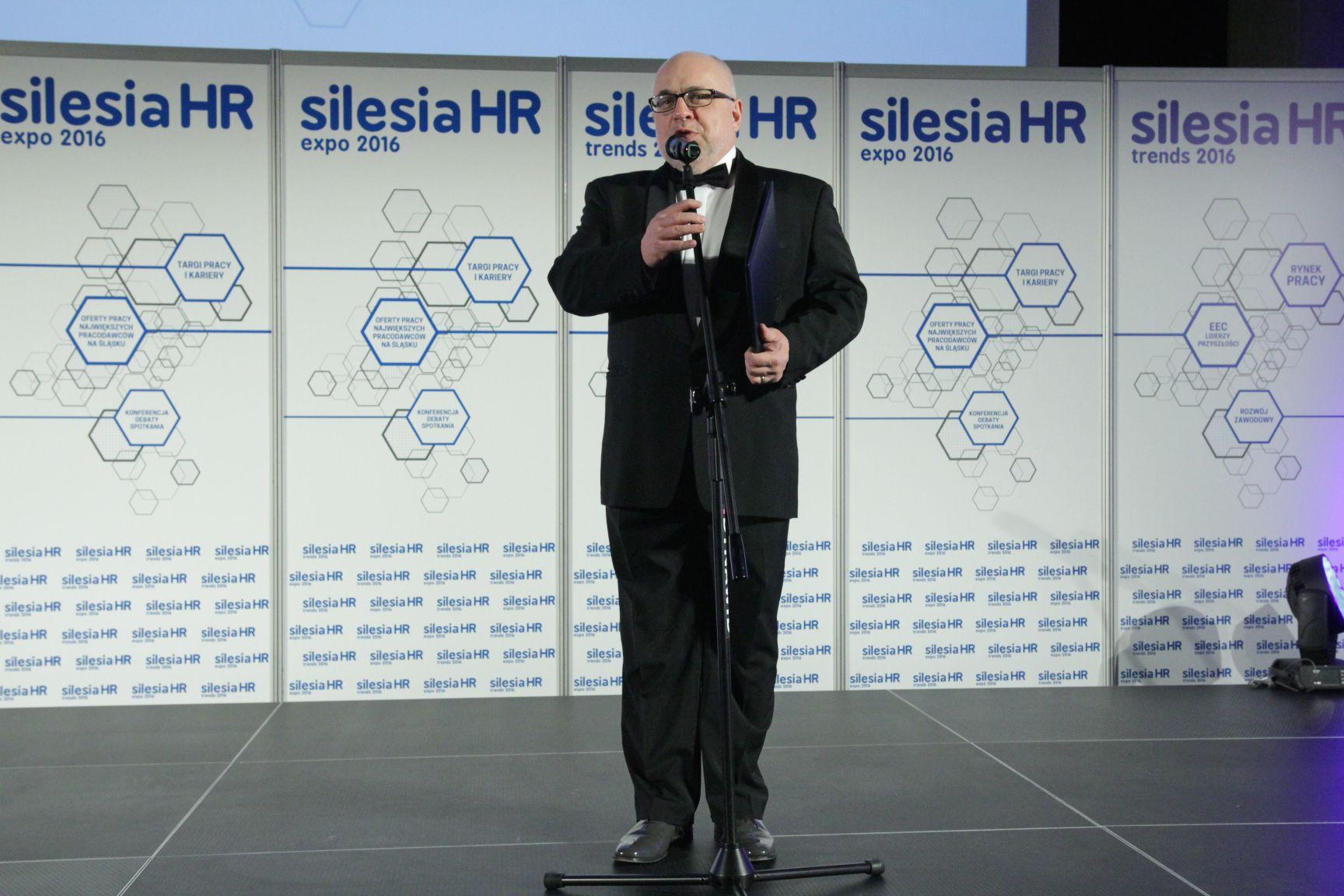 Galę rozdania nagród Top Pracodawcy Śląska poprowadził Mirosław Neinert - dyrektor Teatru Korez w Katowicach (fot.PTWP)