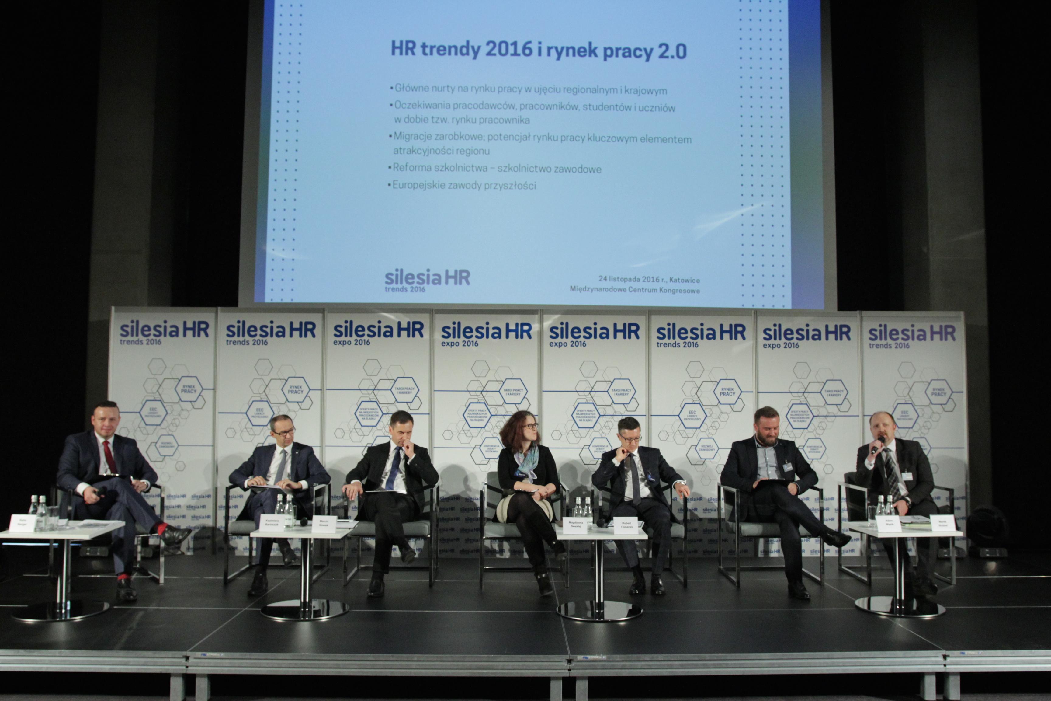 Sesja inauguracyjna Silesia HR Trends: HR trendy 2016 i rynek pracy 2.0 (Fot. PTWP)