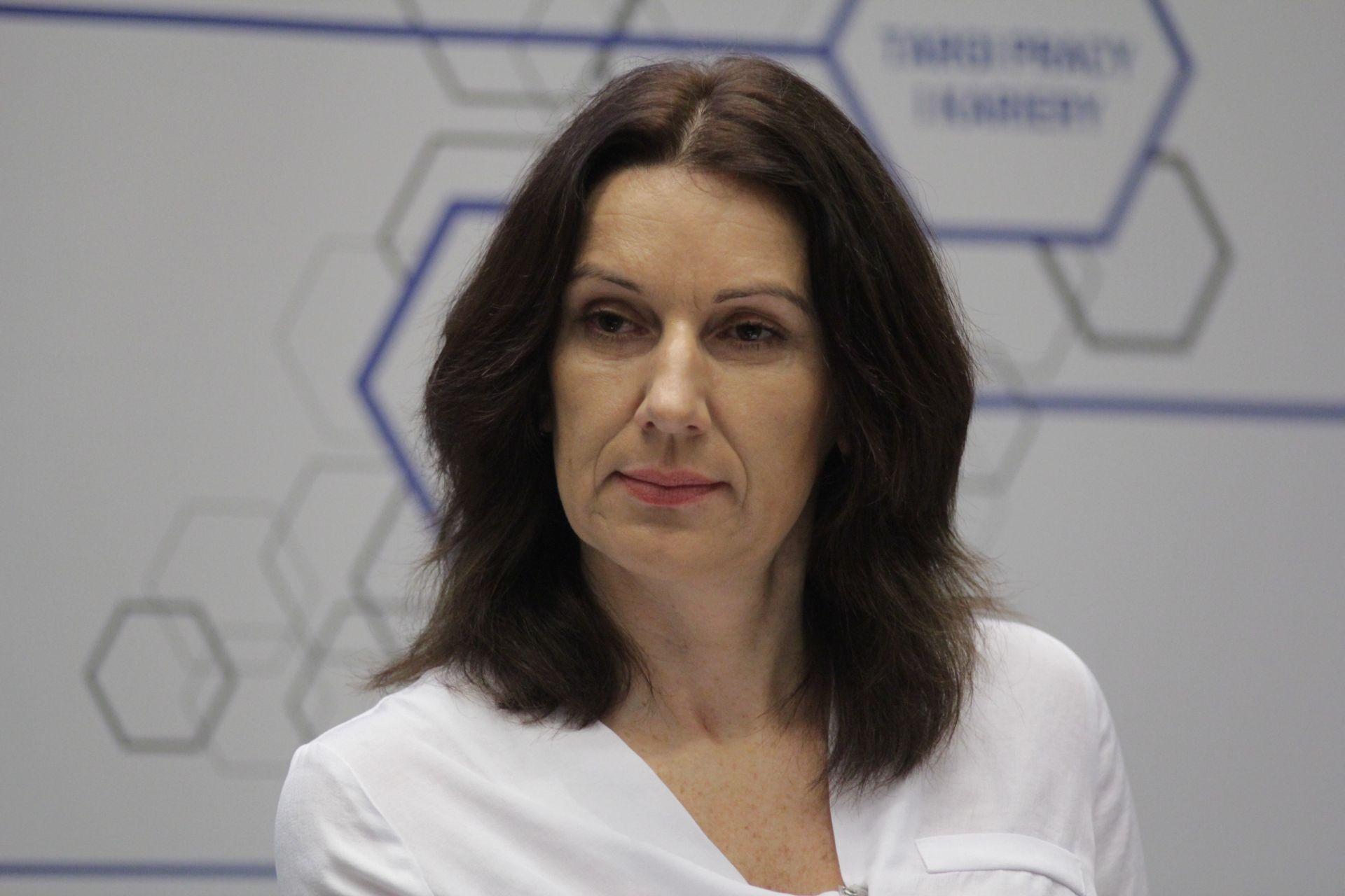 Katarzyna Szczepańska–Woszczyna, Prorektor ds. Kształcenia i Współpracy z Zagranicą WSB w Dąbrowie Górniczej.Fot. Michał Oleksy / PTWP