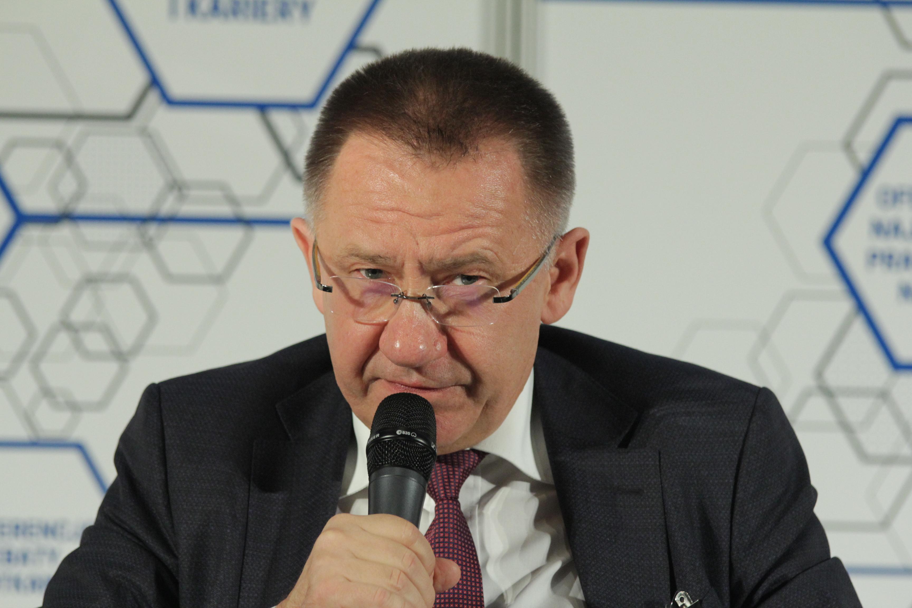 Arkadiusz Hołda, założyciel-kanclerz Wyższej Szkoły Technicznej w Katowicach (Fot. PTWP)