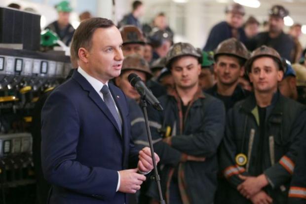 Prezydent: Górnicy budują pomyślność gospodarki i państwa
