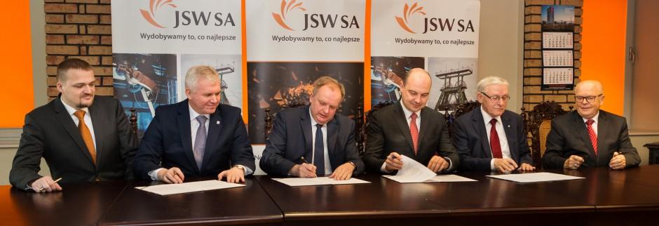 Podpisanie umowy o praktyki z uczelniami, źródło: JSW/materiały prasowe