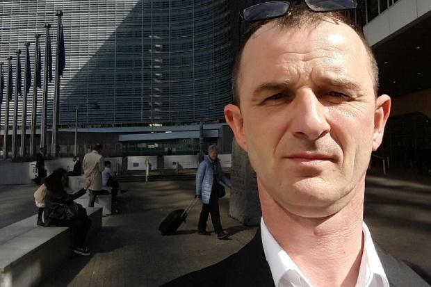 """Piotr Adamczak, przewodniczący """"Solidarności"""" w Biedronce (Fot. archiwum prywatne Piotra Adamczaka)"""