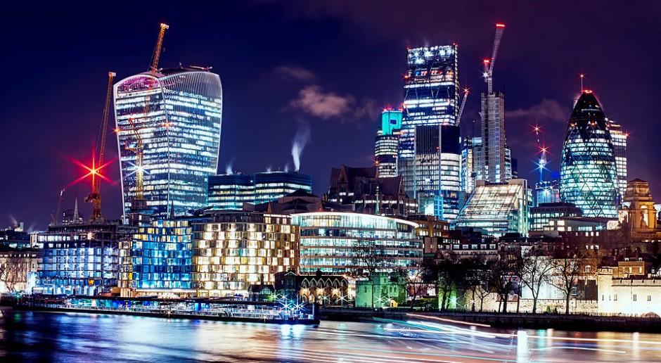 Widok na londyńskie City, jak nazywa się finansową dzielnicę stolicy Wielkiej Brytanii, źródło: pixabay.com