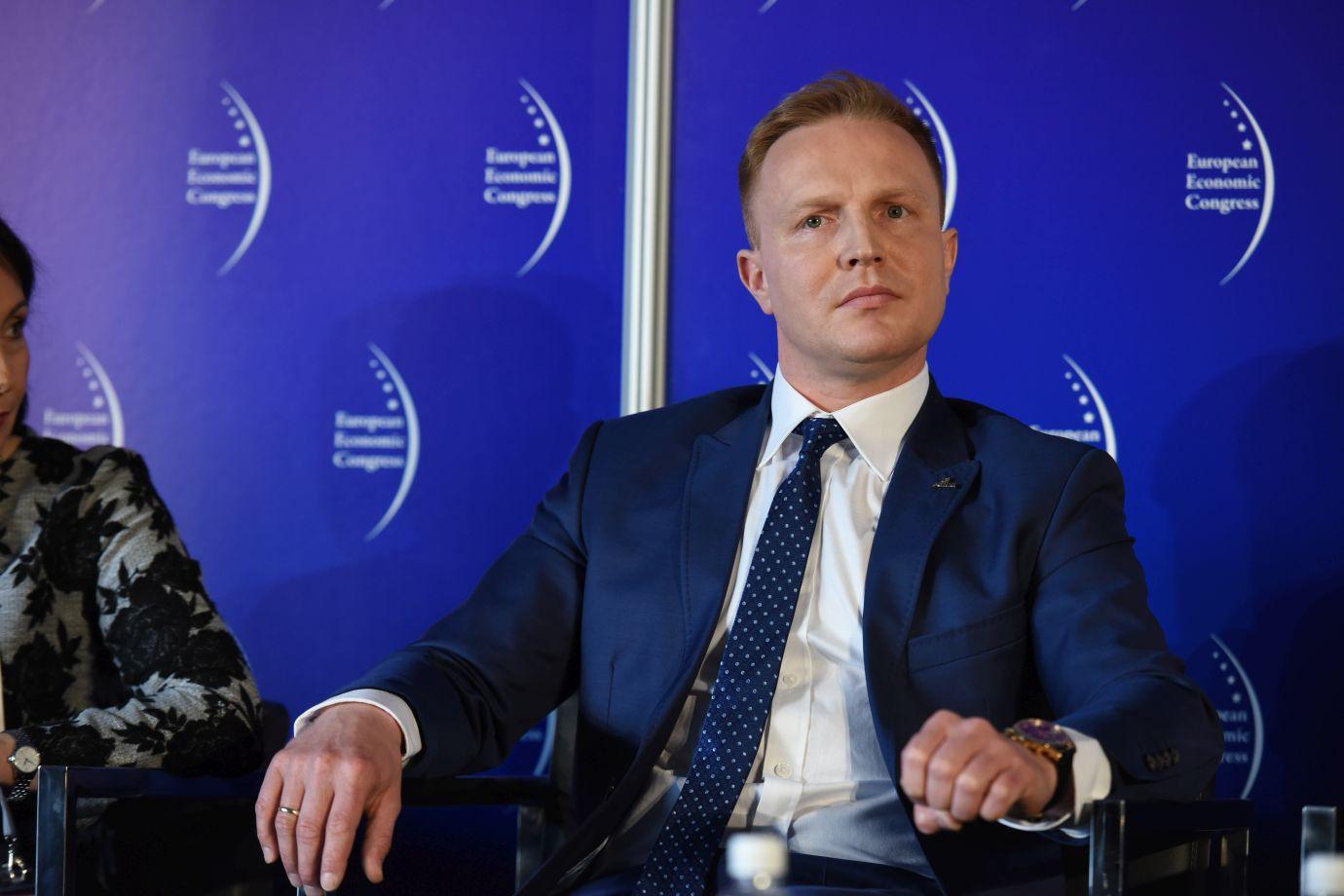 Wiceprezes zarządu ds. rozwoju w PGNiG Łukasz Kroplewski (Fot.: PTWP)