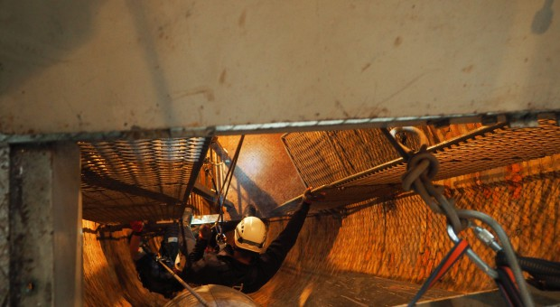 Ratownicy szkolili się w zabytkowej kopalni srebra