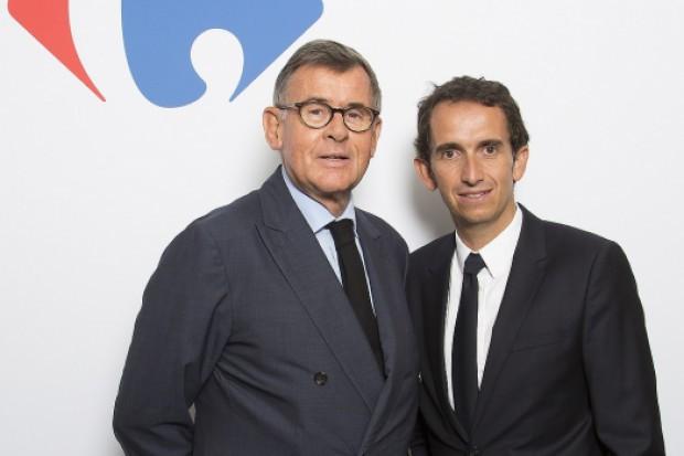 Prezes Alexandre Bompard z prawej, poprzedni prezes Georges Plassat z lewej (fot.DlaHandlu)