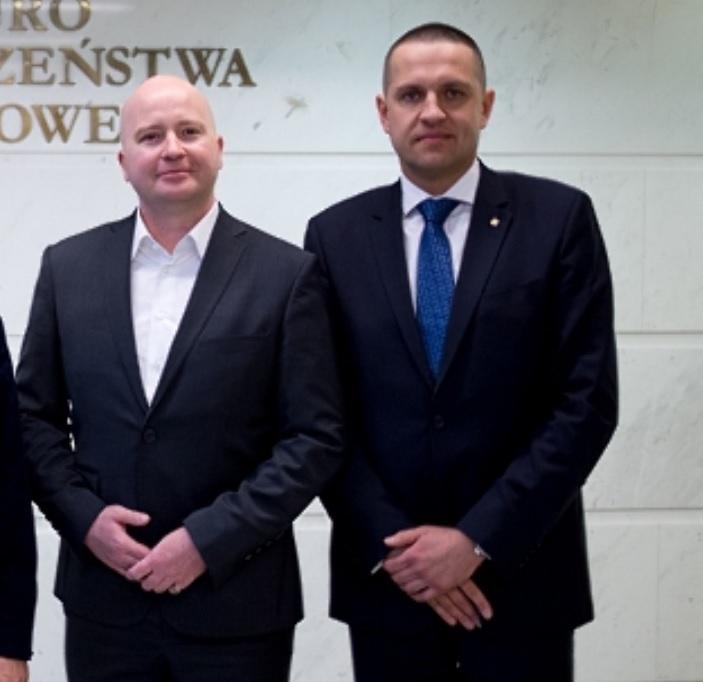 Beniamin Krasicki nowy wiceprezes Polskiej Izby Ochrony i Marcin Pyclik - nowy prezes Polskiej Izby Ochrony (fot.piooim.pl)