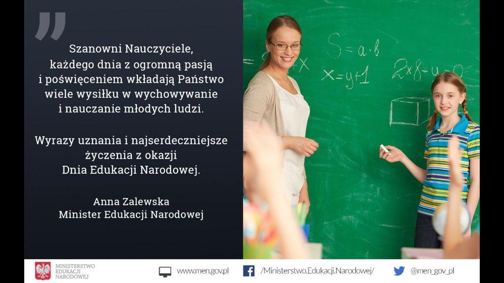 Życzenia MEN z okazji Dnia Edukacji Narodowej (fot.men.gov.pl)