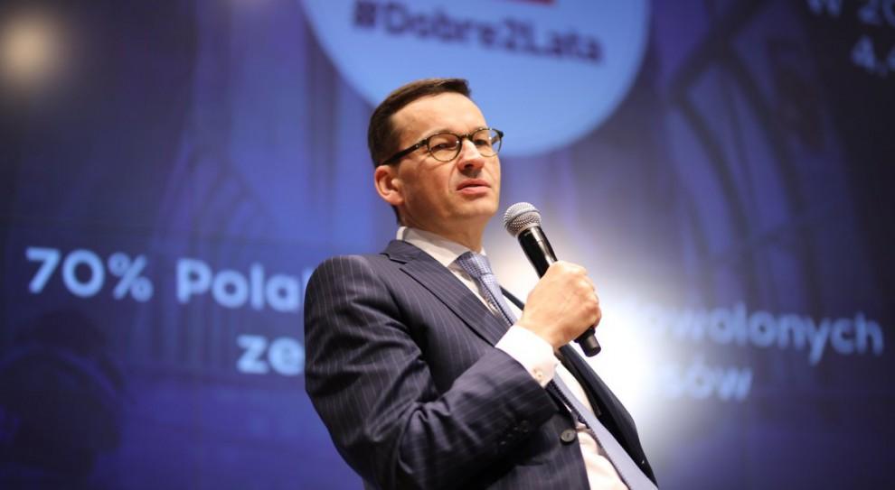 Mateusz Morawiecki: Trend malejącego bezrobocia jest dużą naszą zasługą