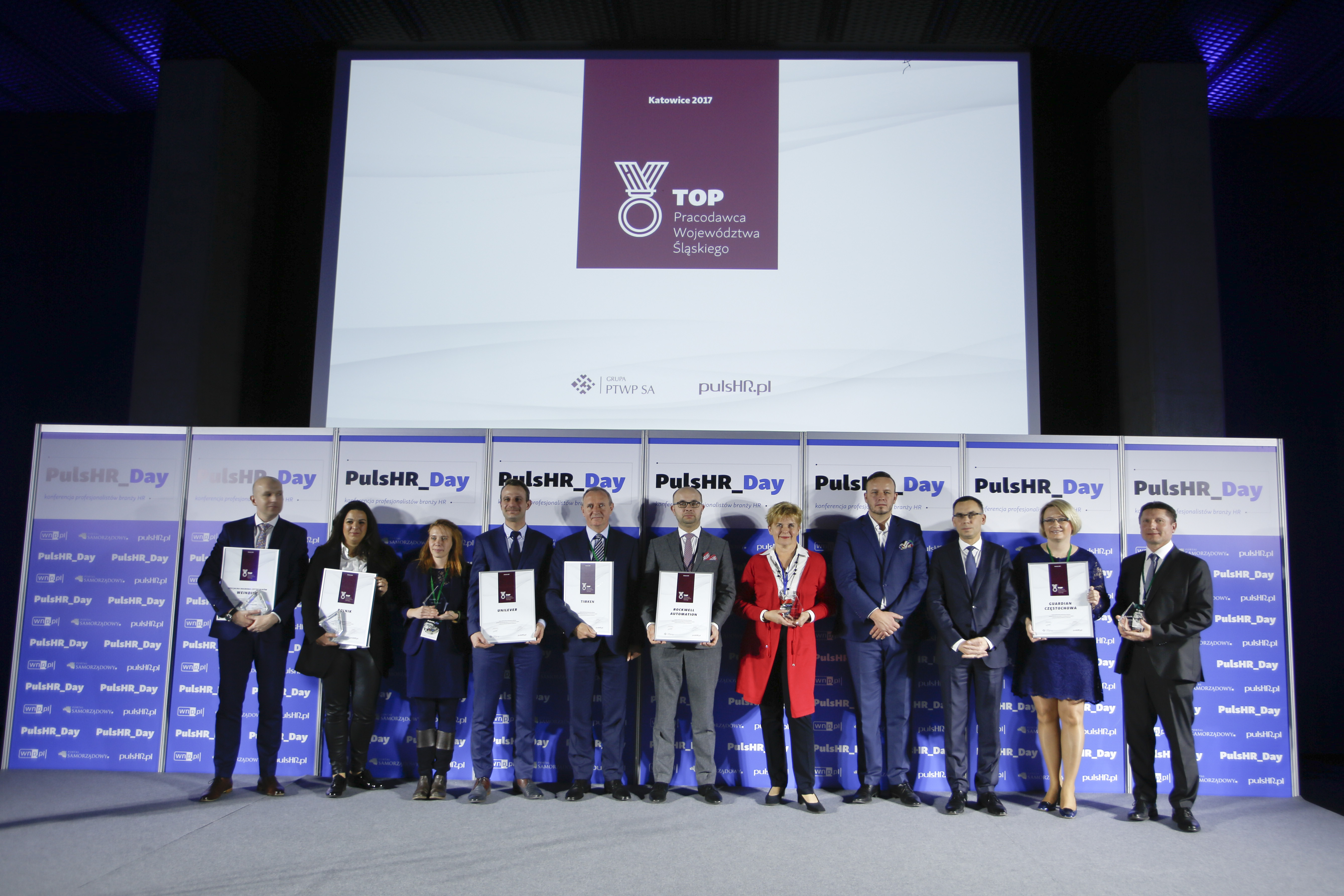 Laureaci konkursu Top Pracodawca Województwa Śląskiego (fot. Krzysztof Matuszyński)