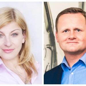 Katarzyna Borucka i Askaniusz Sawicki z Coca-Cola HBC Polska